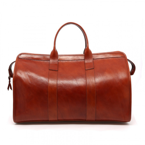 Signature Travel Duffle - Cognac - Hand Stained Leather in