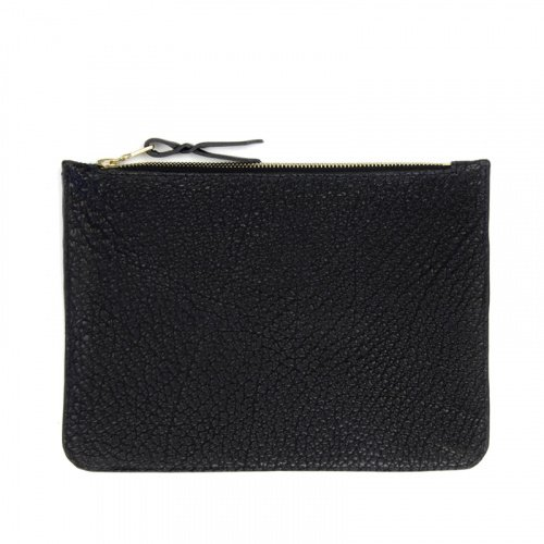 Medium Zipper Pouch Black Bison in