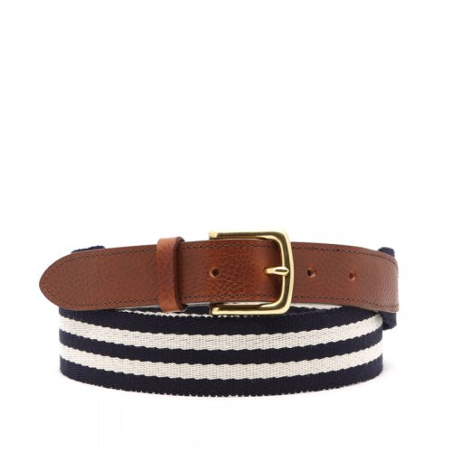 Striped Cotton Belt in woven_stripes