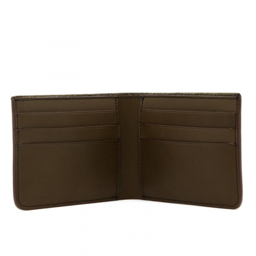 Bifold Wallet - Olive /Brown Edges - Harness Leather  in
