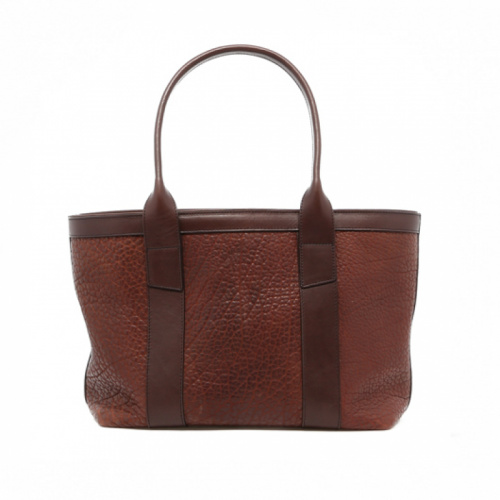 Small Working Tote - Chocolate - American Bison in