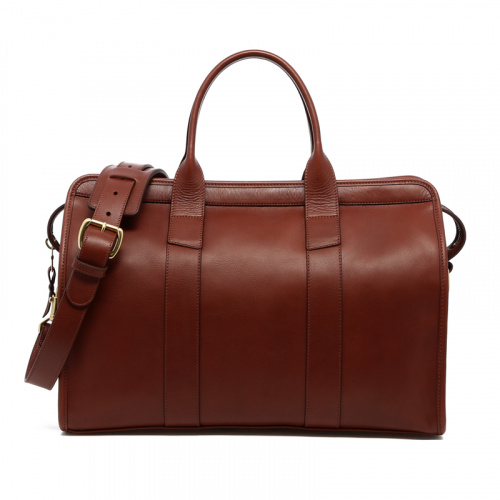 Small Travel Duffle  in Smooth Tumbled Leather