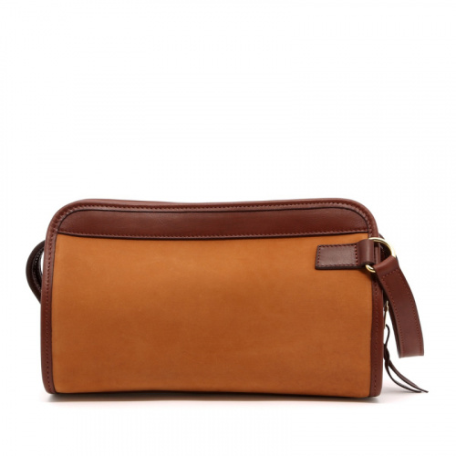 Small Travel Kit - Tobacco/Chestnut - Nubuck  in