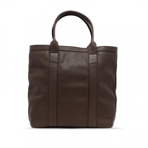 Tall Tote - Warm Grey - Supple Tumbled Leather in
