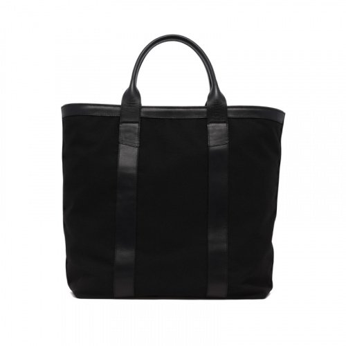 Tall Tote - Black - Zip-Top Closure - Sunbrella in