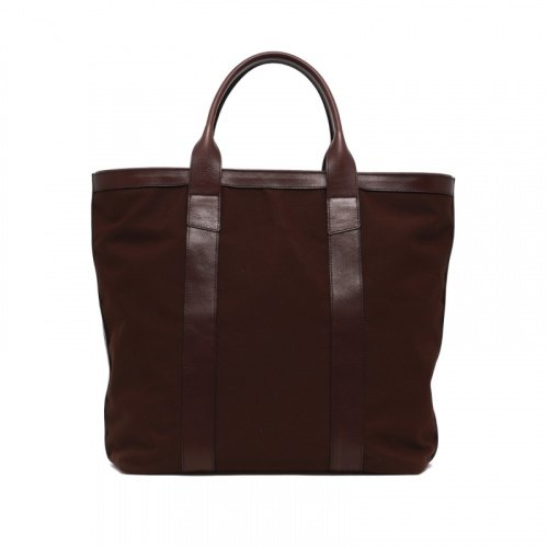Tall Tote - Chocolate - Zip-Top Closure - Sunbrella in
