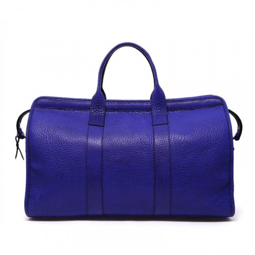 Signature Travel Duffle - Vibrant Blue/Aqua Interior - Bison in