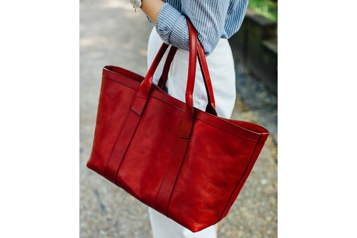 Frank Clegg Large Tote in Red
